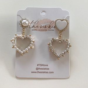 Heart Pearl Earrings